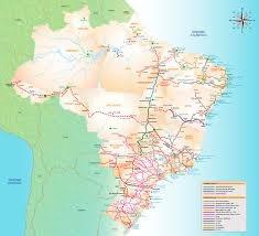 Malha ferroviária no Brasil