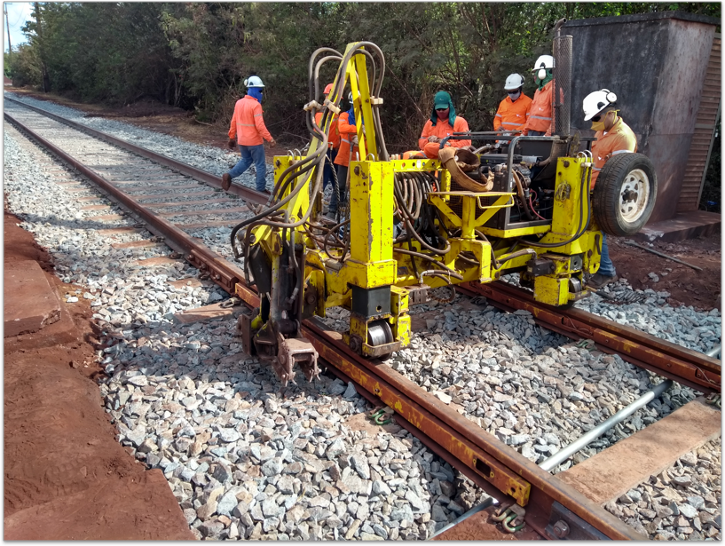 Manutenção dos trilhos ferroviários