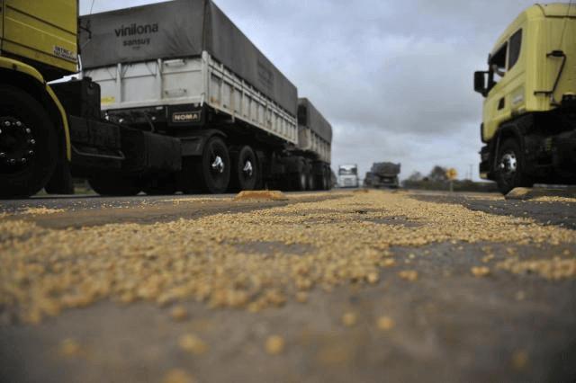 Perda de grãos transportados